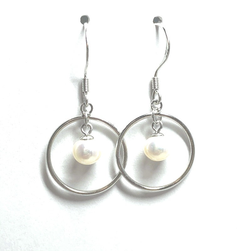 All Trendy Sterling Silver Pearl Earrings