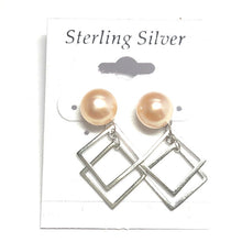 Load image into Gallery viewer, All Trendy Sterling Silver Pearl Earrings