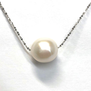 "Perfectly Round ""Edison"" Pearl Pendant"