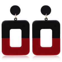Load image into Gallery viewer, Trendy Long Dangle Colorful Block Earrings