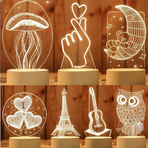 Creative Novelty 3D LED Cartoon Light