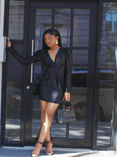 Black Power- Black Dress - AlamodBoutique