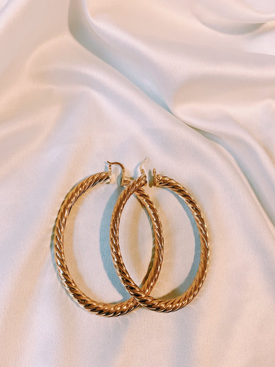 Simplicity Gold Hoop Earrings - AlamodBoutique