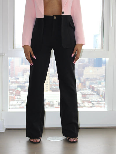 I Mean Business - Black Pants - AlamodBoutique