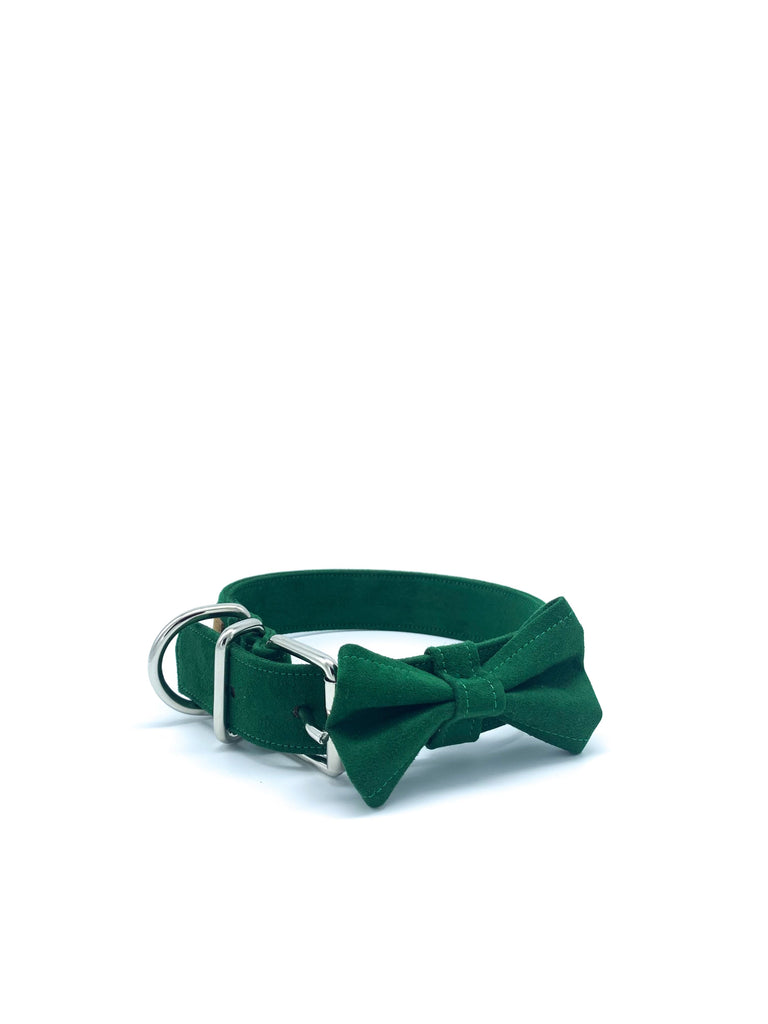 Jessie Collar & Bow in Forest Green