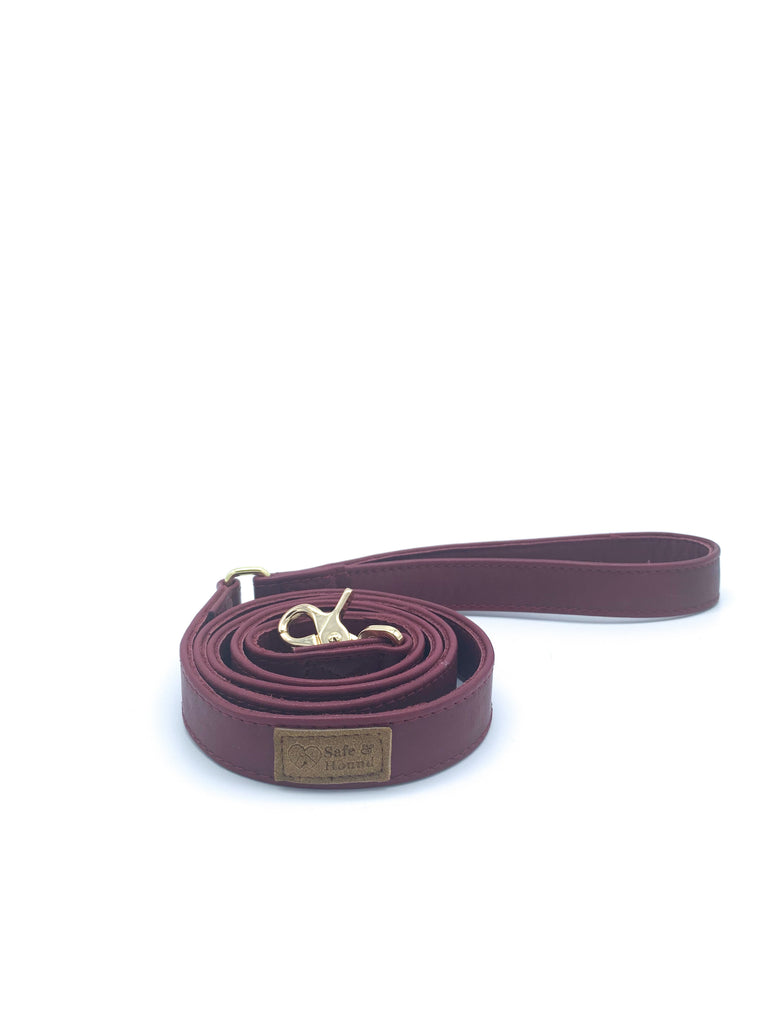 Single Handle Flat Leather Leash