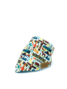 Cotton Snap Bandanna in Canadian Cities/Turquoise