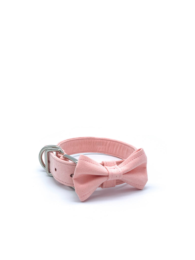 Sample Sale: Jessie Collar & Bow in Fuzzy Peach