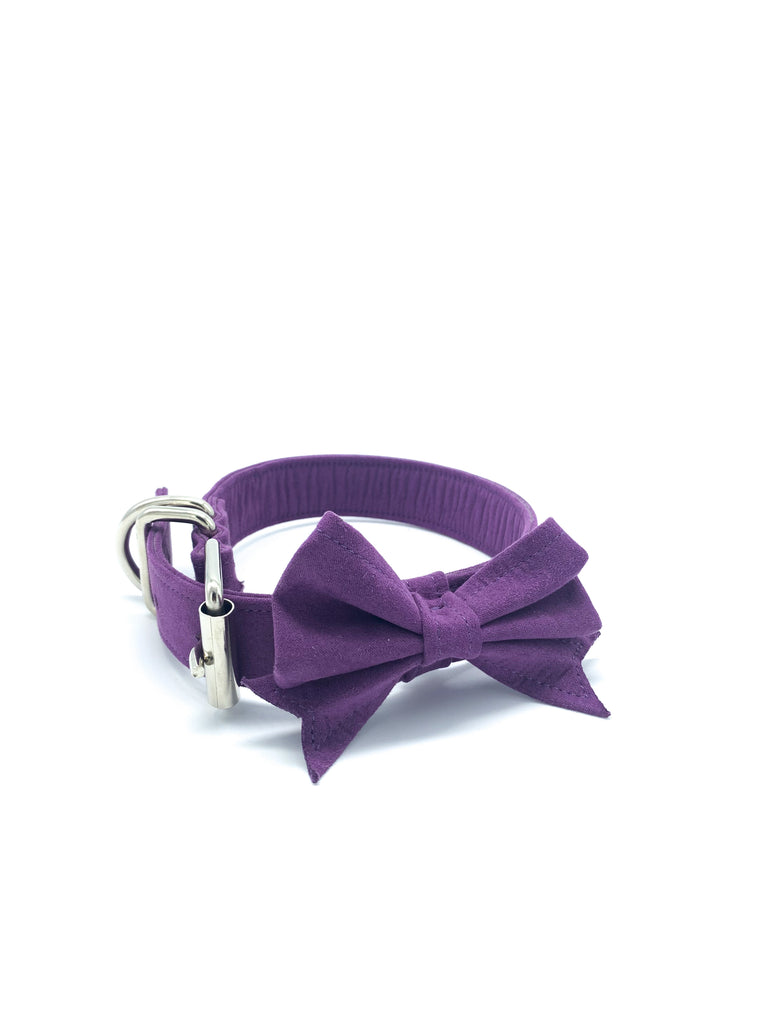 Jessie Collar & Bow in Amethyst Purple