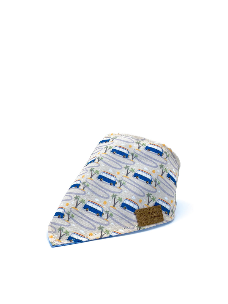 Cotton Snap Bandanna in Camper Van/Sky Blue