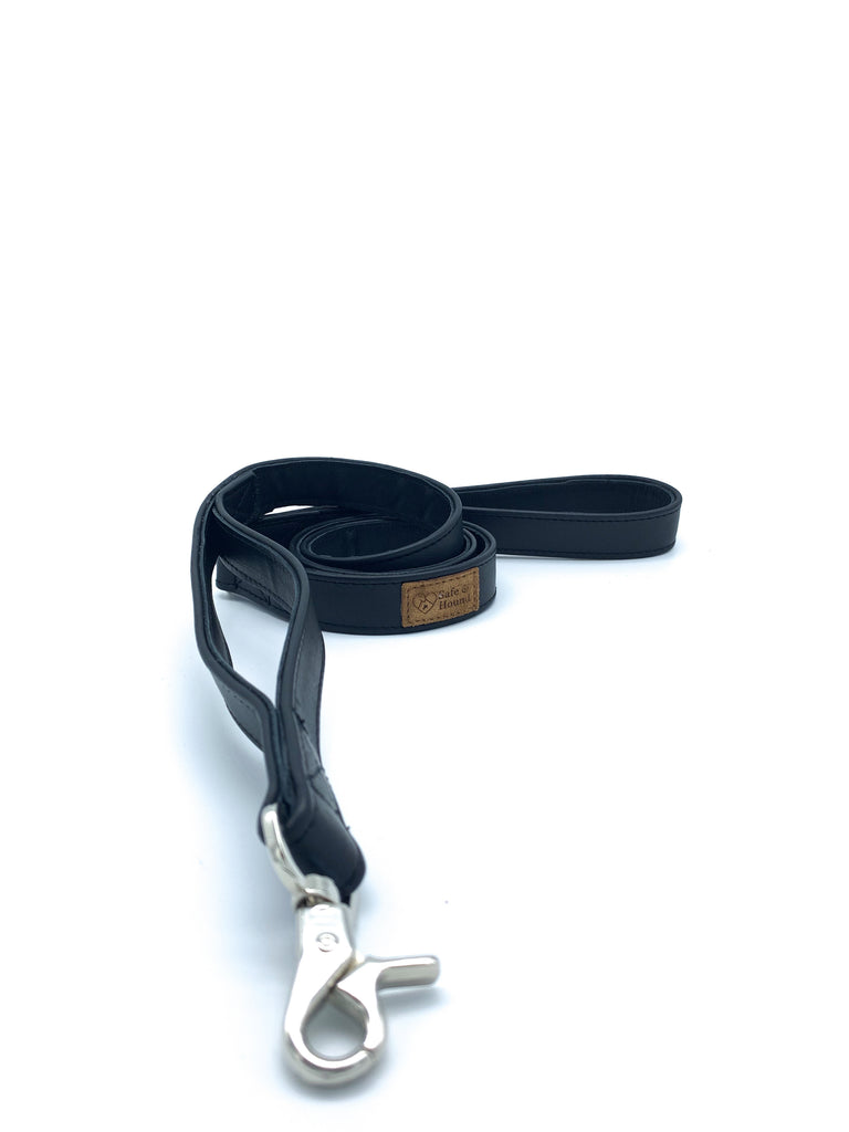 PREORDER: Double Handle Flat Leather Leash
