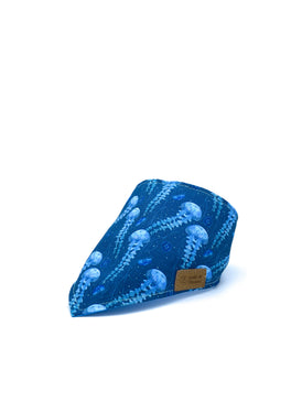 Cotton Snap Bandanna in Jellyfish/Cerulean Blue