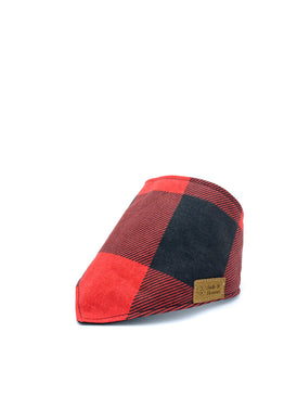 Cotton Snap Bandanna in Red/Black Large-Print Buffalo Check Plaid