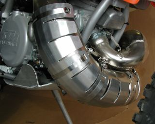 #11-24 Pipe Guard for 2005-2016 KTM 250/300 XC, XCW & 2014-2016 Husqvarna 250/300 TC, TE with FMF Gnarley/ Fatty Pipe