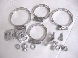 #11-66 Universal Exhaust Guard Mounting Hardware set of 3