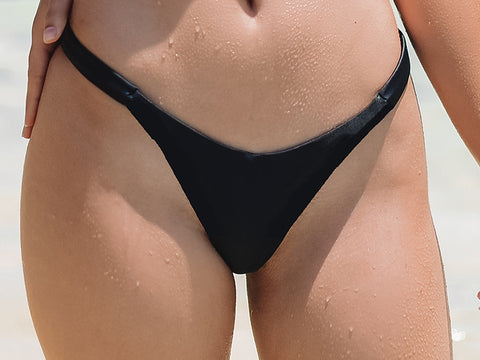 Black V-shaped bikini bottom