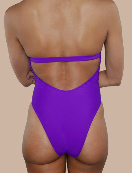 One piece swimsuit purple