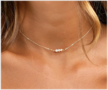 Load image into Gallery viewer, Dainty Pearl Bar Necklace