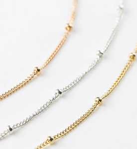 Delicate Beaded Chain Necklace