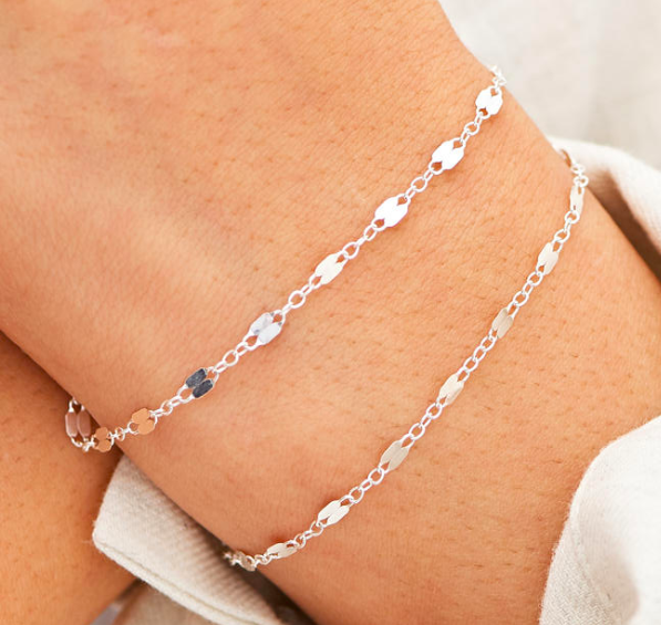 Double Lace Chain Bracelet