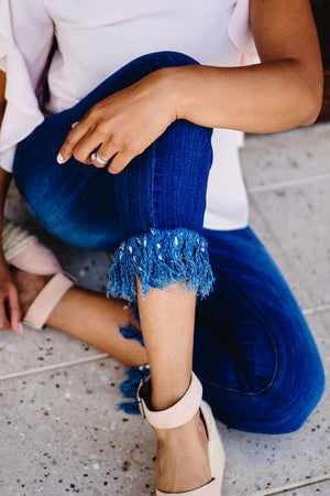 Allison Frayed Cropped Denim