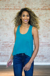 Cool Girl Racerback Tank-Teal