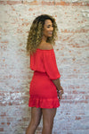 No Promises Smocked Dress-Red