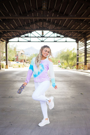 Move and Groove Tie Dye Pullover