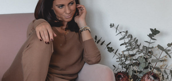 Nadine Motiwalla in luxury loungewear