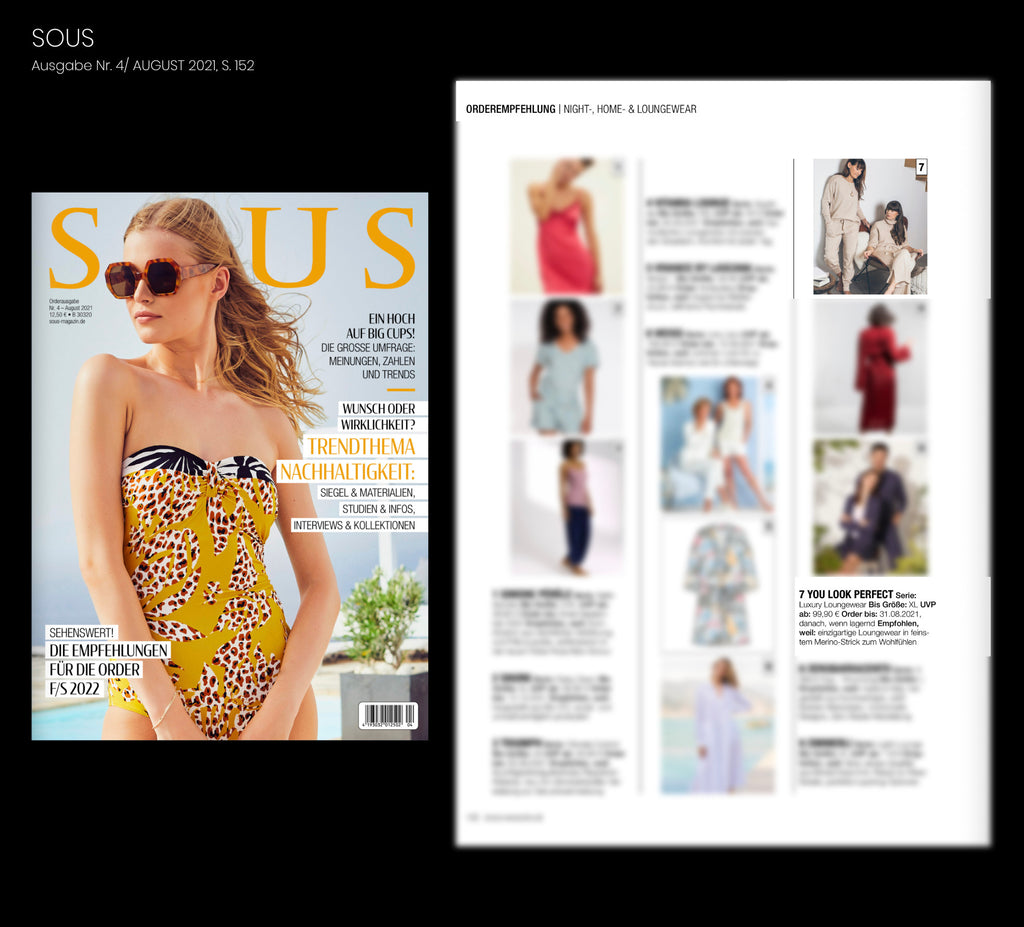 Loungewear Orderempefhlung sous magazin