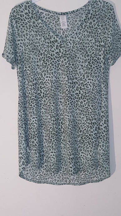 Women's Cheetah Print shirt with a soft blouse feeling