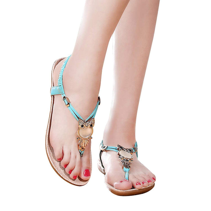 Owl Sandals with elastic back and adjustable straps