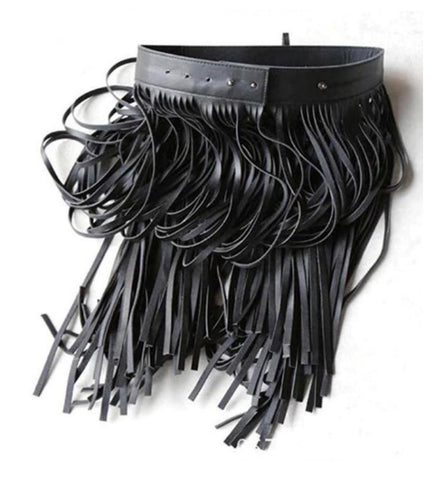 Fringe Leatherette Belt