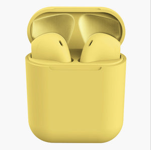 New macarons pop-up window INPODS12 matte sports HIFI true stereo wireless 5.0 Bluetooth headset TWS