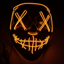 Load image into Gallery viewer, Black V Halloween Horror Glowing Mask