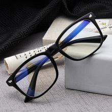 Load image into Gallery viewer, Classic square glasses frame men and women retro rice glasses frame lens plus blue film UV400 flat mirror 15969