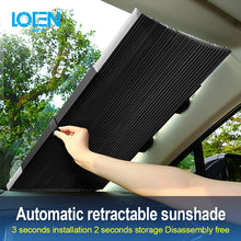 Load image into Gallery viewer, Car Window Sunshade Retractable Windshield Sunshade Cover Shield Curtain Foldable Auto Sun Shade Block Anti-UV Car Window Shade