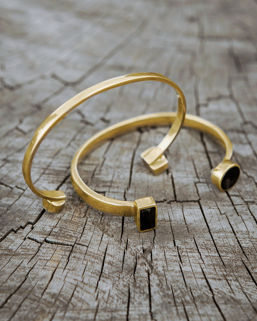 Zuri brass bangle -  Handmade in Kenya