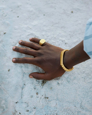 Adla brass bangle - Handmade in Kenya