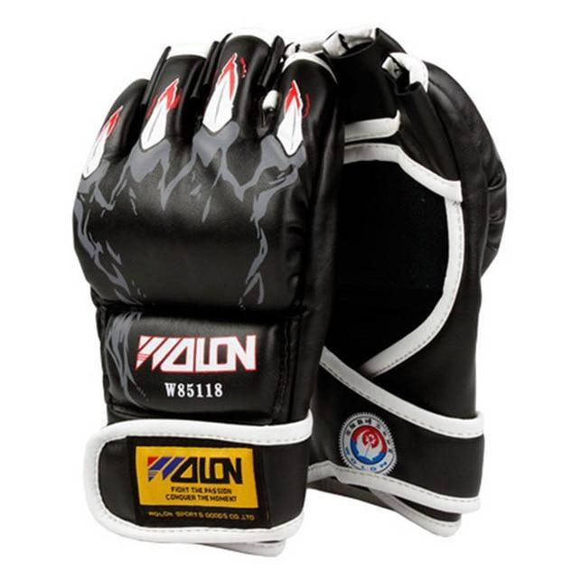 Gloves - Black Animal Claw MMA Fight Gloves