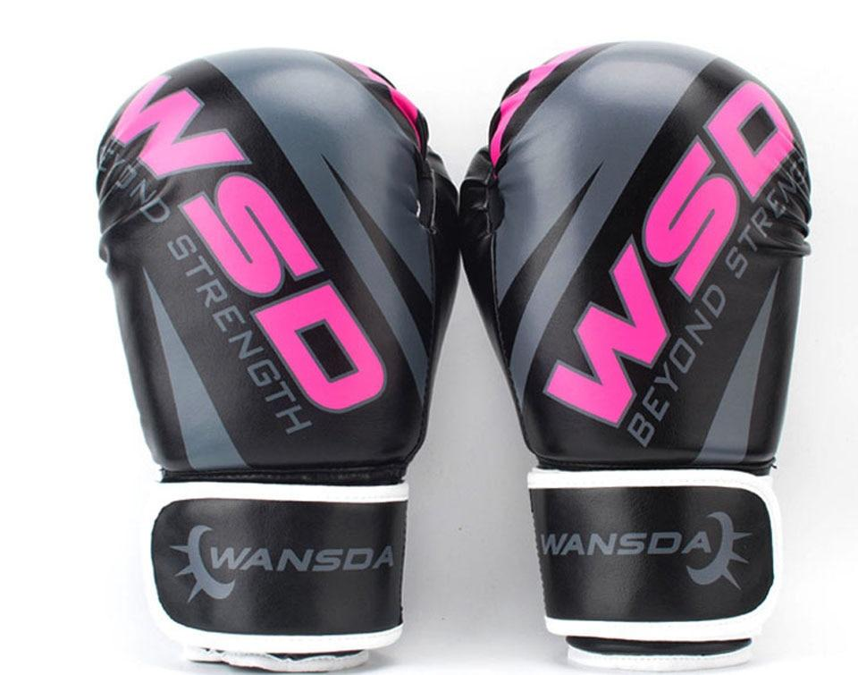 Gloves - Black / Pink Boxing Gloves 6oz/10oz/12oz - Various Weights Available
