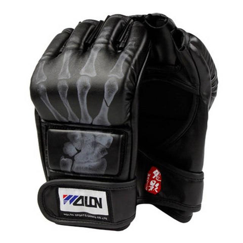Image of Gloves - Black Skeleton Claw MMA Fight Gloves