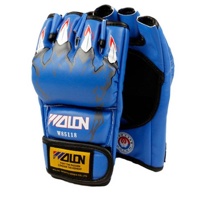Gloves - Blue Animal Claw MMA Fight Gloves