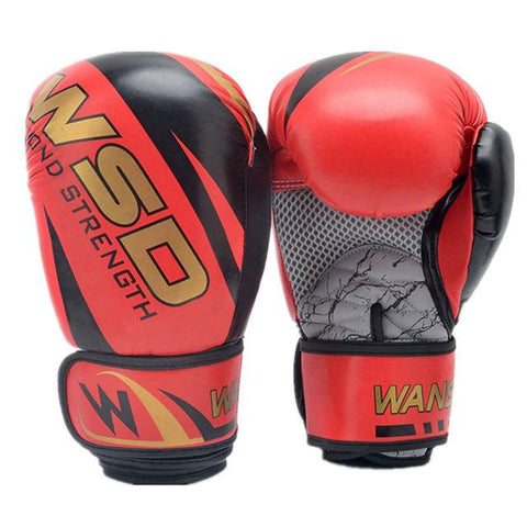 Image of Gloves - Red / Gold Boxing Gloves 6oz/10oz/12oz - Various Weights Available