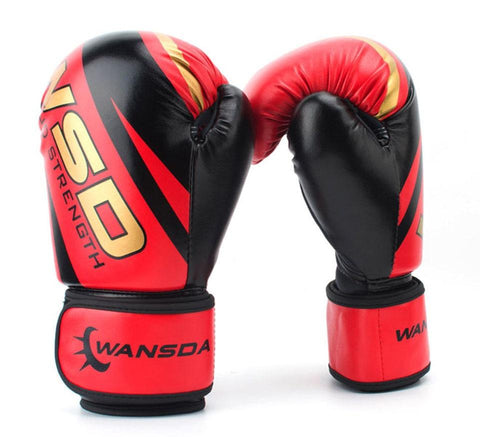 Gloves - Red / Gold Boxing Gloves 6oz/10oz/12oz - Various Weights Available