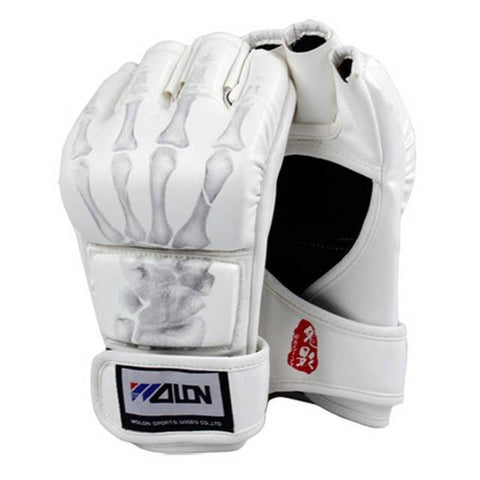 Image of Gloves - White Skeleton Claw MMA Fight Gloves