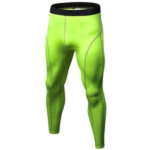 Leggings - Lime Compression Spats / Leggings