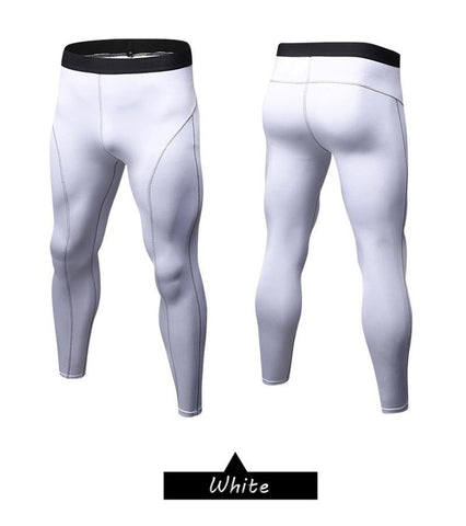 Image of Leggings - White Compression Spats / Leggings