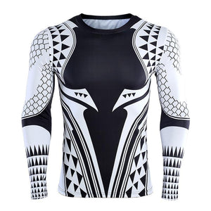 Long Sleeve - Aquaman Rashguard White/black (long Sleeve)
