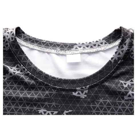 Long Sleeve - Black/grey Camo Print Rashguard (long Sleeve)